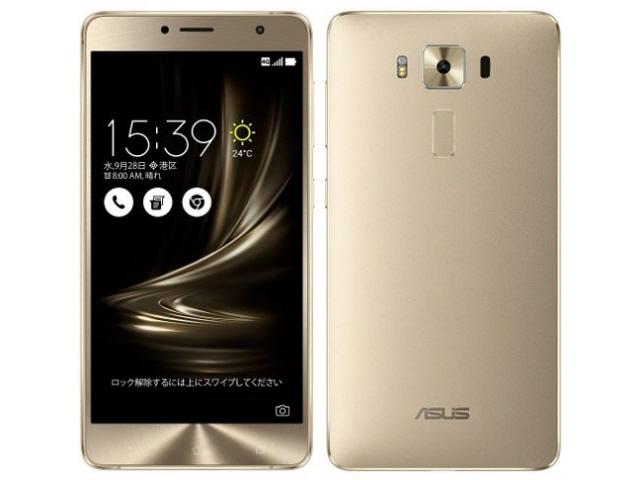 ASUS スマートフォン ZenFone 3 Deluxe ZS550KL-GD64S4 SIMフリー [ゴールド] [キャリア:SIMフリー OS種類:Android 6.0 販売時期:2016年秋モデル 画面サイズ:5.5インチ 内蔵メモリ:ROM 64GB RAM 4GB バッテリー容量:3000mAh]