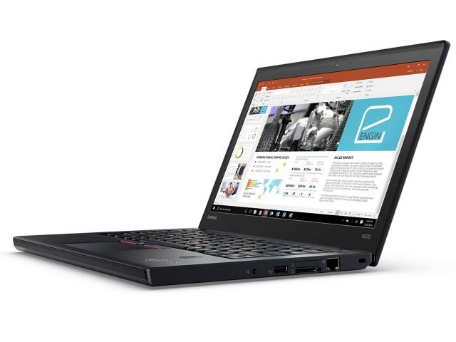 Lenovo ノートパソコン ThinkPad X270 20HN0010JP [液晶サイズ:12.5インチ CPU:Core i3 7100U(Kaby Lake)/2.4GHz/2コア CPUスコア:3800 ストレージ容量:HDD:500GB メモリ容量:4GB OS:Windows 10 Pro 64bit]