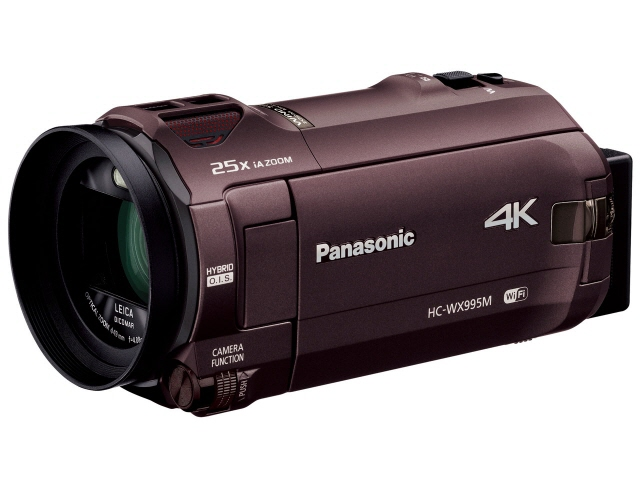 パナソニック ビデオカメラ HC-WX995M [タイプ:ハンディカメラ 画質:4K 撮影時間:210分 本体重量:360g 撮像素子:MOS 1/2.3型 動画有効画素数:829万画素] 【】 【人気】 【売れ筋】【価格】【半端ないって】