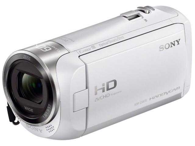 SONY ビデオカメラ HDR-CX470 (W) [ホワイト] [タイプ:ハンディカメラ 画質:フルハイビジョン 撮影時間:115分 本体重量:190g 撮像素子:CMOS 1/5.8型 動画有効画素数:229万画素] 【】 【人気】 【売れ筋】【価格】【半端ないって】