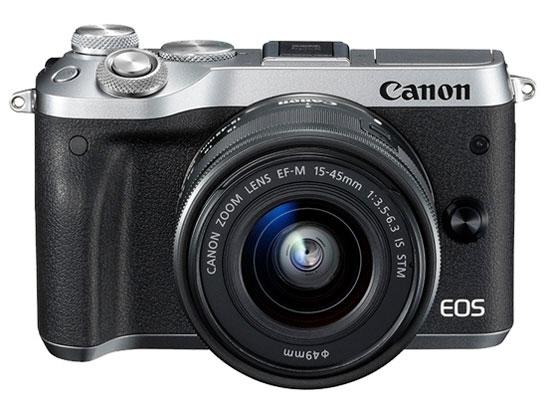 CANON デジタル一眼カメラ EOS M6 EF-M15-45 IS STM レンズキット [シルバー] [タイプ:ミラーレス 画素数:2580万画素(総画素)/2420万画素(有効画素) 撮像素子:APS-C/22.3mm×14.9mm/CMOS 連写撮影/秒:9コマ 重量:343g]
