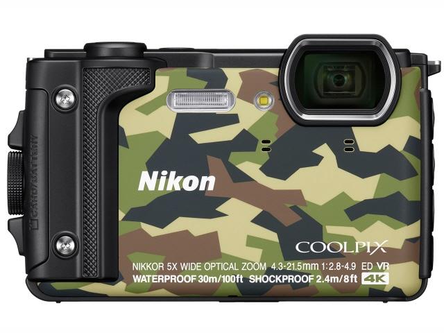 ニコン デジタルカメラ COOLPIX W300 [カムフラージュ] [画素数:1679万画素(総画素)/1605万画素(有効画素) 光学ズーム:5倍 撮影枚数:280枚 防水カメラ:○ 備考:防水/防塵/耐衝撃/耐低温/顔認識AF/笑顔自動シャッター]