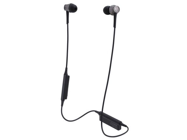 【キャッシュレス 5% 還元】 オーディオテクニカ イヤホン・ヘッドホン Sound Reality ATH-CKR55BT BK [スティールブラック] [タイプ:カナル型 装着方式:両耳 駆動方式:ダイナミック型 再生周波数帯域:5Hz~35kHz]
