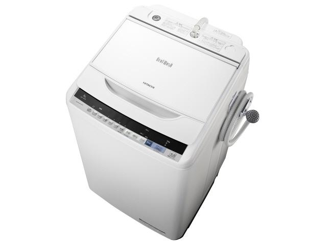 【代引不可】日立 洗濯機 ビートウォッシュ BW-V80B(W) [ホワイト] [洗濯機スタイル:簡易乾燥機能付洗濯機 開閉タイプ:上開き 洗濯容量:8kg] 【】 【人気】 【売れ筋】【価格】