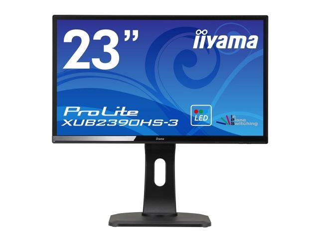 iiyama 液晶モニタ・液晶ディスプレイ ProLite XUB2390HS-3 XUB2390HS-B3 [23インチ マーベルブラック] [モニタサイズ:23インチ モニタタイプ:ワイド 解像度(規格):フルHD(1920x1080) 入力端子:DVIx1/D-Subx1/HDMIx1]