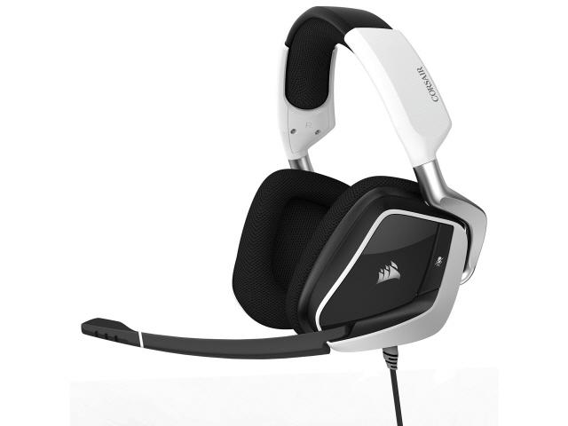 Corsair ヘッドセット Gaming VOID PRO RGB USB CA-9011155-AP [White] [ヘッドホンタイプ:オーバーヘッド プラグ形状:USB 片耳用/両耳用:両耳用 ケーブル長さ:1.8m] 【エントリーでポイント10倍以上!SS期間中】