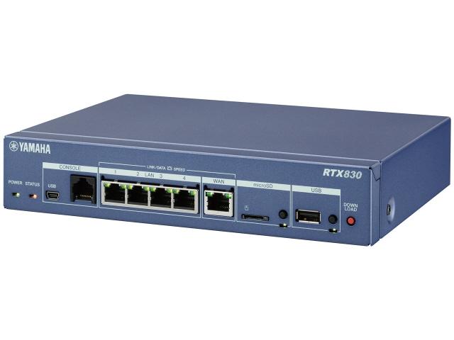 【ポイント5倍以上!最大3,000円OFFクーポン!9日~16日】 ヤマハ 有線ブロードバンドルーター RTX830 [有線LAN速度:10/100/1000Mbps 有線LANポート数:4 対応セキュリティ:UPnP/VPN/DMZ] 【】【人気】【売れ筋】【価格】