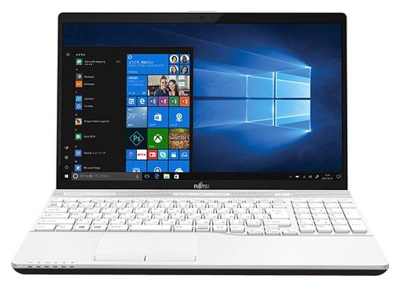 富士通 ノートパソコン FMV LIFEBOOK AH45/B3 FMVA45B3W [プレミアムホワイト] [液晶サイズ:15.6インチ CPU:Core i3 7130U(Kaby Lake)/2.7GHz/2コア CPUスコア:4082 ストレージ容量:HDD:1TB メモリ容量:4GB OS:Windows 10 Home 64bit]