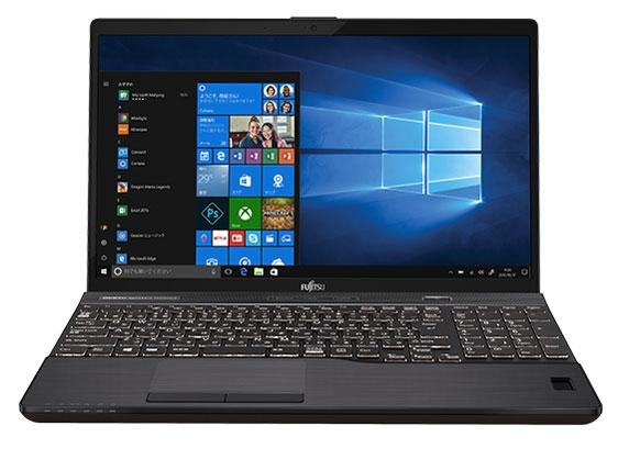 富士通 ノートパソコン FMV LIFEBOOK AH77/B3 FMVA77B3B [ブライトブラック] [液晶サイズ:15.6インチ CPU:Core i7 8550U(Kaby Lake Refresh)/1.8GHz/4コア CPUスコア:8325 ストレージ容量:HDD:1TB/SSD:128GB メモリ容量:8GB OS:Windows 10 Home 64bit]