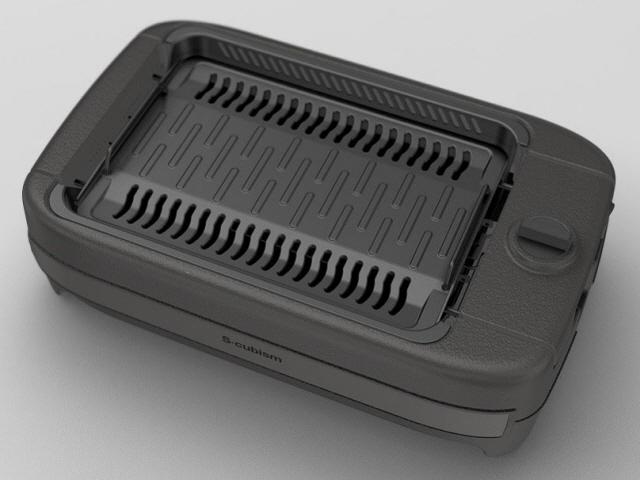 エスキュービズム ホットプレート 吸煙グリル SNG-001BK [ブラック] [タイプ:ホットプレート 形状:長方形 付属プレート数:1枚 サイズ:290x130x480mm 重量:4.2kg] 【】【人気】【売れ筋】【価格】