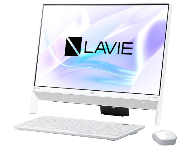 NEC デスクトップパソコン LAVIE Desk All-in-one DA350/KAW PC-DA350KAW [画面サイズ:23.8インチ CPU種類:Celeron Dual-Core 3865U(Kaby Lake) メモリ容量:4GB ストレージ容量:HDD:1TB OS:Windows 10 Home 64bit]