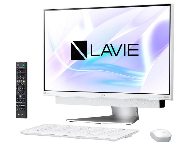 NEC デスクトップパソコン LAVIE Desk All-in-one DA770/KAW PC-DA770KAW [ホワイトシルバー] [画面サイズ:23.8インチ CPU種類:Core i7 8550U(Kaby Lake Refresh) メモリ容量:8GB ストレージ容量:HDD:3TB OS:Windows 10 Home 64bit]