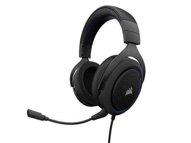 Corsair ヘッドセット Gaming HS50 STEREO CA-9011172-AP [Blue] [ヘッドホンタイプ:オーバーヘッド プラグ形状:ミニプラグ 片耳用/両耳用:両耳用] 【】【人気】【売れ筋】【価格】
