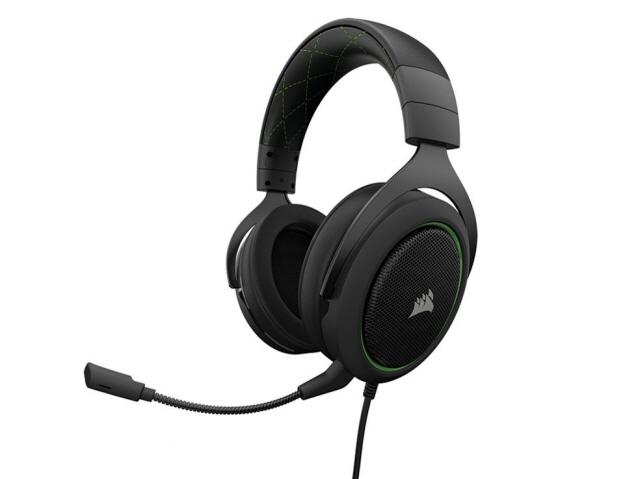 Corsair ヘッドセット Gaming HS50 STEREO CA-9011171-AP [Green] [ヘッドホンタイプ:オーバーヘッド プラグ形状:ミニプラグ 片耳用/両耳用:両耳用] 【】【人気】【売れ筋】【価格】