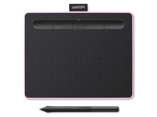 ワコム ペンタブレット Intuos Smallワイヤレス CTL-4100WL/P0 [ベリーピンク] [入力範囲(幅x奥行):152x95mm 筆圧レベル:4096レベル インターフェース:USB 幅x高さx奥行:200x8.8x160mm]