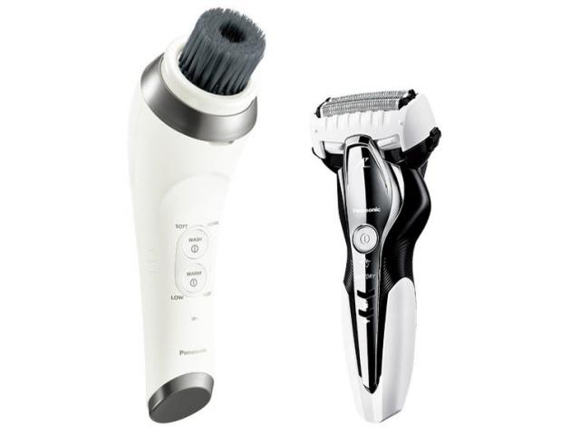パナソニック シェーバー ラムダッシュ サロンシェービングセット ES-MC3QCM [刃の枚数:3枚刃 駆動方式:往復式 電源方式:充電 その他機能:水洗い/海外使用/お風呂剃り対応/キワゾリ刃]