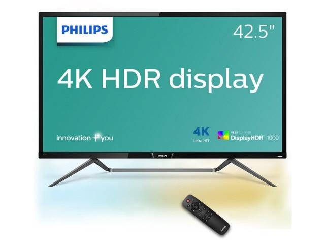 【代引不可】フィリップス 液晶モニタ・液晶ディスプレイ 436M6VBPAB/11 [42.51インチ ブラック] [モニタサイズ:42.51インチ モニタタイプ:ワイド 解像度(規格):4K(3840x2160) 入力端子:HDMI2.0x1/USB Type-Cx1/DisplayPortx1/miniDisplayPortx1]
