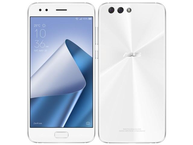 ASUS スマートフォン ZenFone 4 SIMフリー [ムーンライトホワイト] [キャリア:SIMフリー OS種類:Android 7.1 販売時期:2017年秋モデル 画面サイズ:5.5インチ 内蔵メモリ:ROM 64GB RAM 6GB バッテリー容量:3300mAh]