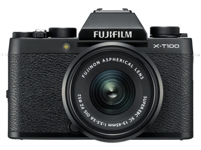 【キャッシュレス 5% 還元】 富士フイルム デジタル一眼カメラ FUJIFILM X-T100 レンズキット [ブラック] 【】 【人気】 【売れ筋】【価格】