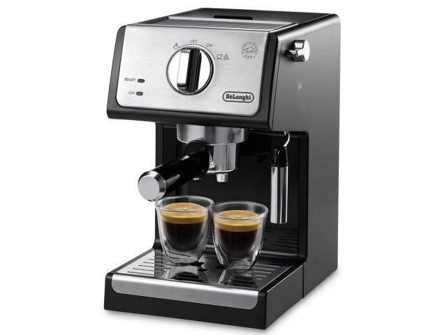 デロンギ コーヒーメーカー アクティブ ECP3220J-BK [インテンスブラック] [容量:2杯 エスプレッソ:○ カプチーノ:○] 【】【人気】【売れ筋】【価格】