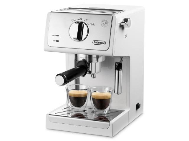 デロンギ コーヒーメーカー アクティブ ECP3220J-W [トゥルーホワイト] [容量:2杯 エスプレッソ:○ カプチーノ:○] 【】【人気】【売れ筋】【価格】