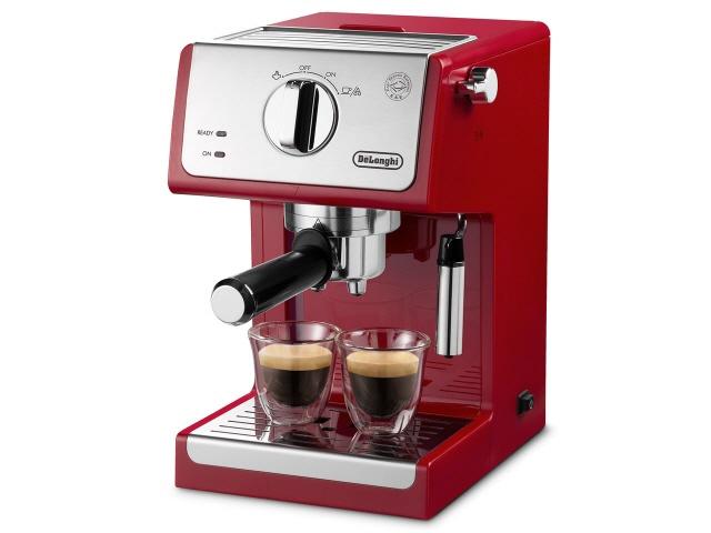 デロンギ コーヒーメーカー アクティブ ECP3220J-R [パッションレッド] [容量:2杯 エスプレッソ:○ カプチーノ:○] 【】【人気】【売れ筋】【価格】