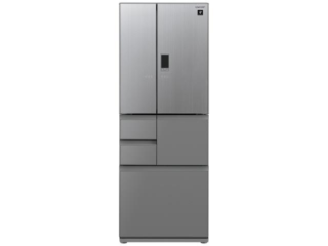 【代引不可】シャープ 冷凍冷蔵庫 SJ-GX50E-S [エレガントシルバー] [省エネ評価:★★★★★ ドアの開き方:フレンチドア(観音開き) タイプ:冷凍冷蔵庫 ドア数:6ドア 定格内容積:502L]