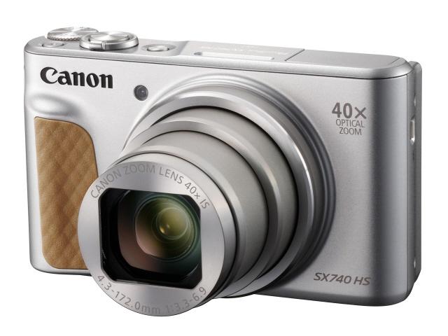 【キャッシュレス 5% 還元】 CANON デジタルカメラ PowerShot SX740 HS [シルバー] [画素数:2110万画素(総画素)/2030万画素(有効画素) 光学ズーム:40倍 撮影枚数:265枚]  【人気】 【売れ筋】【価格】
