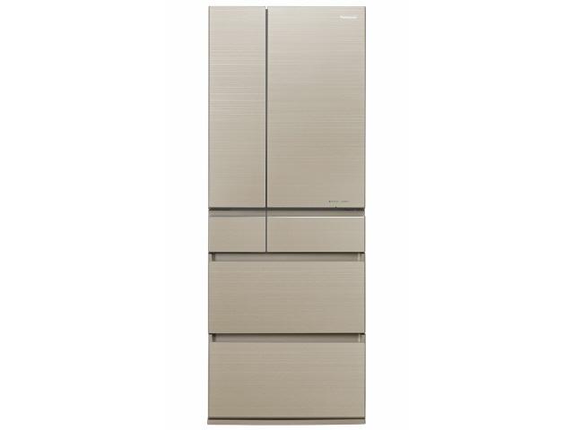 【代引不可】パナソニック 冷凍冷蔵庫 NR-F604HPX-N [マチュアゴールド] [省エネ評価:★★★★★ ドアの開き方:フレンチドア(観音開き) タイプ:冷凍冷蔵庫 ドア数:6ドア 定格内容積:600L]