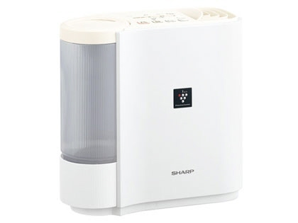 シャープ 加湿器 HV-H30-W [アイボリーホワイト] [加湿タイプ:気化式 設置タイプ:据え置き 適用畳数(木造和室):5畳 適用畳数(プレハブ洋室):8畳 タンク容量:2.4L その他機能:自動運転/除菌/DCモーター]