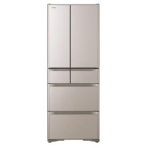 【代引不可】日立 冷凍冷蔵庫 真空チルド R-XG48J(XN) [クリスタルシャンパン] [ドアの開き方:フレンチドア(観音開き) タイプ:冷凍冷蔵庫 ドア数:6ドア 定格内容積:475L] 【】【人気】【売れ筋】【価格】