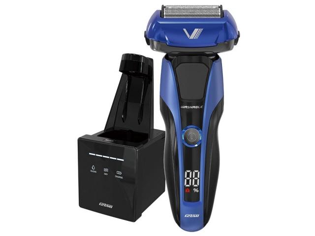 マクセルイズミ シェーバー Z-DRIVE IZF-V978 [刃の枚数:4枚刃 駆動方式:往復式 電源方式:充電交流 洗浄機能:全自動クリーニングシステム その他機能:水洗い/海外使用/キワゾリ刃]