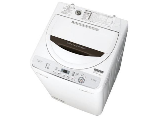 【代引不可】シャープ 洗濯機 ES-GE4C [洗濯機スタイル:簡易乾燥機能付洗濯機 開閉タイプ:上開き 洗濯容量:4.5kg] 【】【人気】【売れ筋】【価格】
