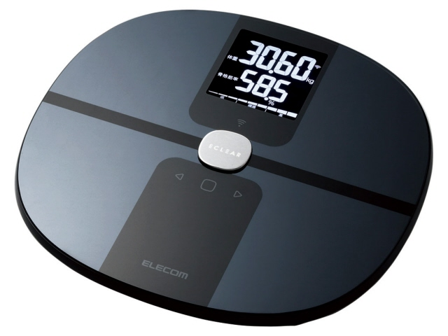エレコム 体脂肪計・体重計 エクリア HCS-WFS01BK [ブラック] [タイプ:体組成計 測定方式:両足 サイズ:309x32x289mm 重量:1500g] 【】 【人気】 【売れ筋】【価格】