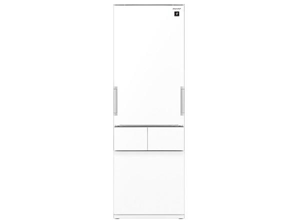【代引不可】シャープ 冷凍冷蔵庫 SJ-GT42E-W [ピュアホワイト] [省エネ評価:★★★★ ドアの開き方:左右開き タイプ:冷凍冷蔵庫 ドア数:4ドア 定格内容積:415L]
