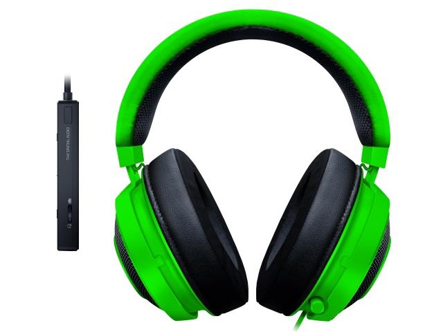 【キャッシュレス 5% 還元】 Razer ヘッドセット Kraken Tournament Edition [Green] [ヘッドホンタイプ:オーバーヘッド プラグ形状:USB/ミニプラグ 片耳用/両耳用:両耳用] 【】 【人気】 【売れ筋】【価格】