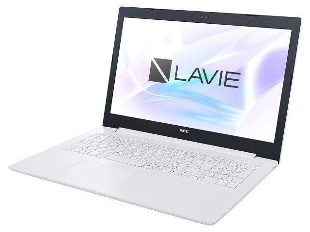 NEC ノートパソコン LAVIE Smart NS PC-SN11FJRDD-D [カームホワイト] [液晶サイズ:15.6インチ CPU:Celeron N4000(Gemini Lake)/1.1GHz/2コア CPUスコア:1469 ストレージ容量:HDD:500GB メモリ容量:4GB OS:Windows 10 Home 64bit]