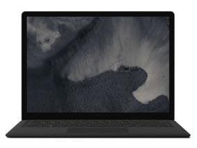 マイクロソフト ノートパソコン Surface Laptop 2 LQQ-00053 [ブラック] [液晶サイズ:13.5インチ CPU:Core i7 8650U(Kaby Lake Refresh)/1.9GHz/4コア CPUスコア:8817 ストレージ容量:SSD:256GB メモリ容量:8GB OS:Windows 10 Home]