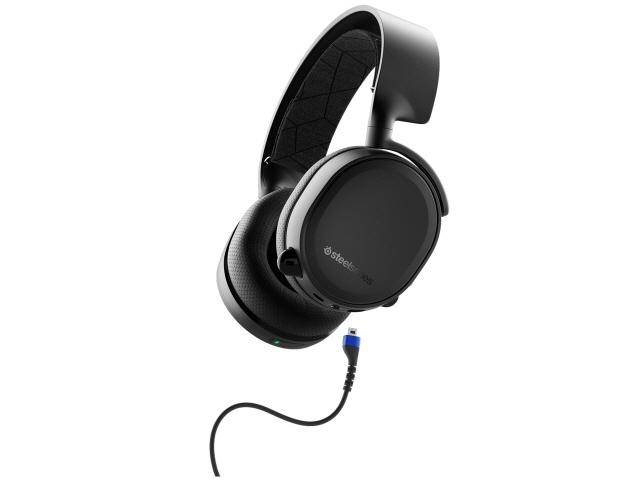 steelseries ヘッドセット Arctis 3 Bluetooth 2019 Edition [ヘッドホンタイプ:オーバーヘッド プラグ形状:ミニプラグ 片耳用/両耳用:両耳用 ケーブル長さ:1.2m]
