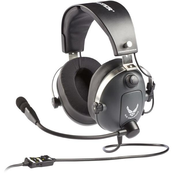 Thrustmaster ヘッドセット T.Flight U.S. Air Force Edition [ヘッドホンタイプ:オーバーヘッド プラグ形状:ミニプラグ 片耳用/両耳用:両耳用 ケーブル長さ:3m] 【】【人気】【売れ筋】【価格】