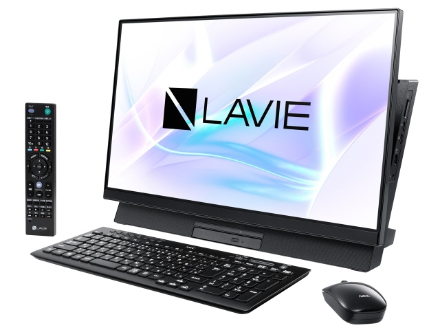 NEC デスクトップパソコン LAVIE Desk All-in-one DA770/MAB PC-DA770MAB [画面サイズ:23.8インチ CPU種類:Core i7 8565U(Whiskey Lake) メモリ容量:8GB ストレージ容量:HDD:3TB + 16GB Optaneメモリ OS:Windows 10 Home 64bit]