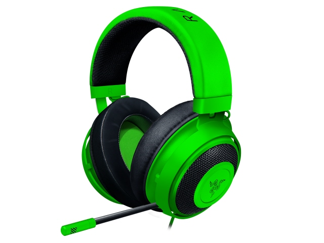【キャッシュレス 5% 還元】 Razer ヘッドセット Kraken [Green] [ヘッドホンタイプ:オーバーヘッド プラグ形状:ミニプラグ 片耳用/両耳用:両耳用 ケーブル長さ:1.3m] 【】 【人気】 【売れ筋】【価格】