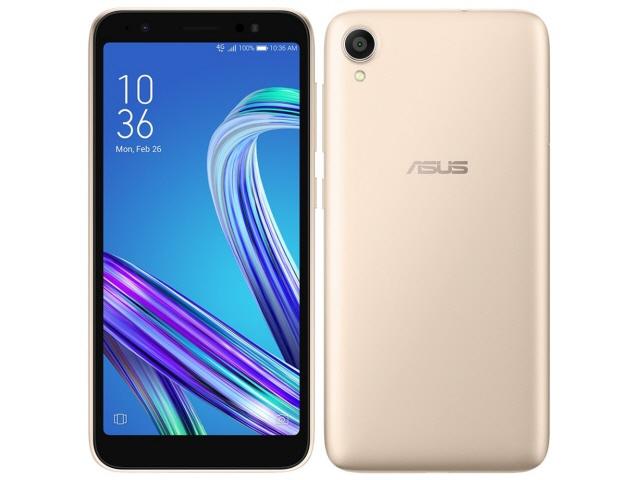 ASUS スマートフォン ZenFone Live (L1) SIMフリー [シマーゴールド] [キャリア:SIMフリー OS種類:Android 8.0 販売時期:2018年冬モデル 画面サイズ:5.5インチ 内蔵メモリ:ROM 32GB RAM 2GB バッテリー容量:3000mAh]