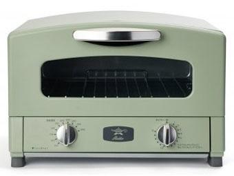 【キャッシュレス 5% 還元】 日本エー・アイ・シー トースター Aladdin CAT-GS13B(G) [アラジングリーン] [タイプ:オーブン 同時トースト数:2枚 消費電力:1250W] 【】 【人気】 【売れ筋】【価格】