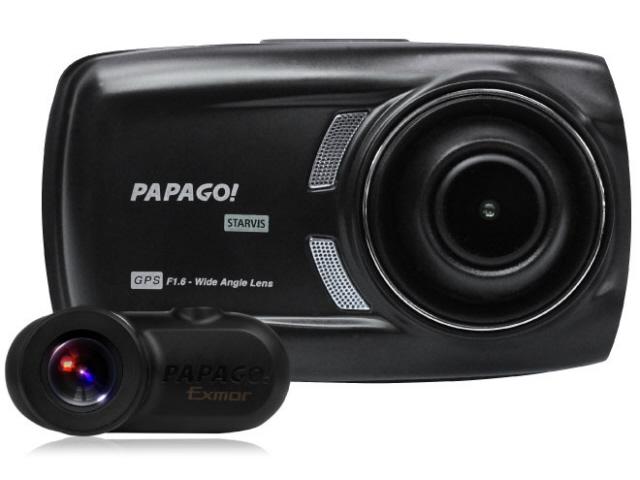 PAPAGO ドライブレコーダー GoSafe S70GS1 GSS70GS1-32G [本体タイプ:一体型 前後2カメラ(前方・後方撮影):○ 画素数(フロント):200万画素 駐車監視機能:オプション] 【】 【人気】 【売れ筋】【価格】