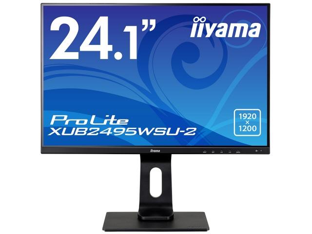 【キャッシュレス 5% 還元】 iiyama 液晶モニタ・液晶ディスプレイ ProLite XUB2495WSU-2 XUB2495WSU-B2 [24.1インチ マーベルブラック] [モニタサイズ:24.1インチ モニタタイプ:ワイド 解像度(規格):WUXGA(1920x1200) 入力端子:D-Subx1/HDMIx1/DisplayPortx1]