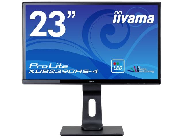 【キャッシュレス 5% 還元】 iiyama 液晶モニタ・液晶ディスプレイ ProLite XUB2390HS-4 XUB2390HS-B4 [23インチ マーベルブラック] [モニタサイズ:23インチ モニタタイプ:ワイド 解像度(規格):フルHD(1920x1080) 入力端子:DVIx1/D-Subx1/HDMIx1]