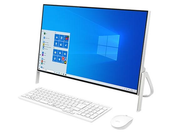 【キャッシュレス 5% 還元】 富士通 デスクトップパソコン FMV ESPRIMO FH52/D3 FMVF52D3W [画面サイズ:23.8インチ CPU種類:インテル Celeron 4205U(Whiskey Lake) メモリ容量:4GB ストレージ容量:SSD:512GB OS:Windows 10 Home 64bit]