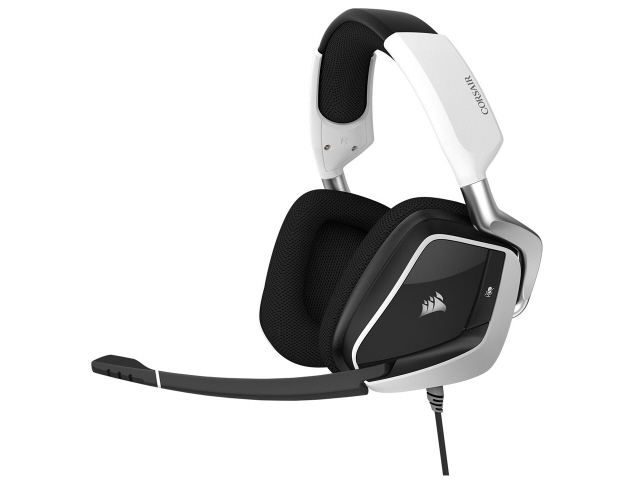 【キャッシュレス 5% 還元】 Corsair ヘッドセット VOID RGB ELITE USB CA-9011204-AP [ホワイト] [ヘッドホンタイプ:オーバーヘッド プラグ形状:USB 装着タイプ:両耳用 ケーブル長さ:1.8m] 【】 【人気】 【売れ筋】【価格】