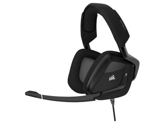 【キャッシュレス 5% 還元】 Corsair ヘッドセット VOID RGB ELITE USB CA-9011203-AP [カーボン] [ヘッドホンタイプ:オーバーヘッド プラグ形状:USB 装着タイプ:両耳用 ケーブル長さ:1.8m] 【】 【人気】 【売れ筋】【価格】